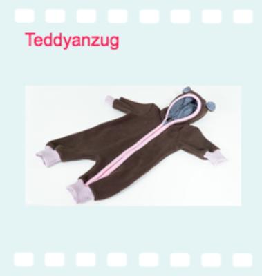 Näh mit mir den Teddyanzug auf Youtube!