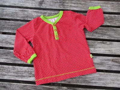 """Shirt und Tunika mit Knopfleiste aus """"Nähen mit Jersey – Babyleicht!"""""""